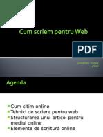 Cum Scriem Pentru Web