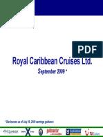 RCL Royal Caribbean Sept 2009 Presentation
