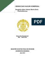 Tugas 3 Penyelesaian Sengketa Dalam Hukum Bisnis Serta Pembuktiannya