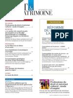 Sommaire Droit & Patrimoine n° 250