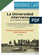 Rinesi, Eduardo- La Universidad interviene en los debates nacionales