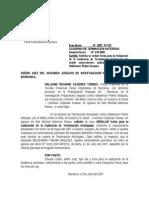 Juzgado de Inv. Prep. Remite Copias Certif. de Antec. Pena. y Otros.