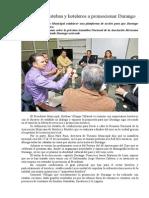 17.11.2013 Comunicado en Equipo, Esteban y Hoteleros a Promocionar Durango