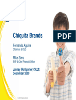 CQB Chiquita Brands Sept 2009 Presentation