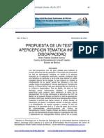 Investigacion UNAM Test Apercepcion CAT y SYMONDS