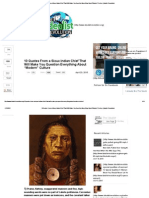 """10 Quotes From a Sioux Indian Chief That Will Make You Question Everything About """"Modern"""" Culture _ Idealist Revolution"""