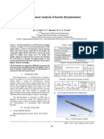 Finite Element Analysis of Inertia Dynamometer