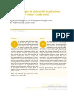 Metodologías ágiles en el desarrollo de aplicaciones para dispositivos móviles. Estado actual