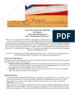 classroom expectations and policies