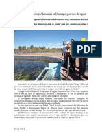 19.11.2013 Comunicado Aplauden Bolivia y Alemania a Durango Por Uso de Agua