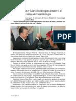 19.11.2013 Comunicado Esteban y Marisol Entregan Donativo Al Centro de Cancerología