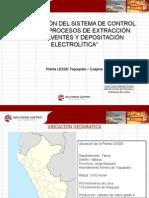 Optimización Del Sistema de Control de SX y EW Planta LESDE - SPCC_CONIMETM