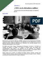 La Misión de La OEA en La Dictadura Militar