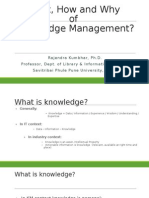 Knowledge Management What, How and Why