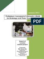 Brukunga Treatment Plant Reagent Trial Assessment Report