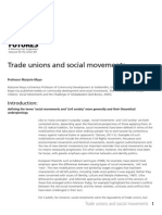 Trade unions and social movements