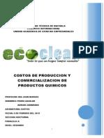 Costo Producion y Comercializacion de Producto de Limpieza