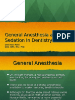 General Anesthesia and Sedation in Dentistry