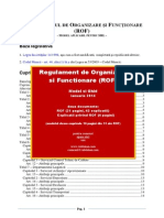 Demo Regulament Organizare Functionare