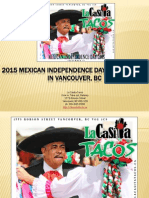 2015 Mexican Independence Day Celebration in Vancouver BC
