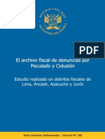 Informe Defensorial N 168 Peculado