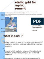 Non-Metallic Grid for Radiographs  ppt by Dr.ali