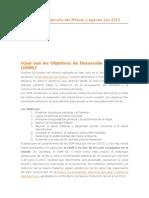 Objetivos de Desarrollo Del Milenio y Agenda Pos 2015