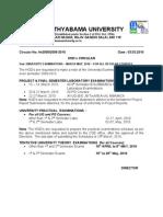 Sathyabama Practical Exam - Regular Courses