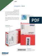 Bearing Packing Seal Label