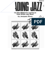 Jacques Rizzo - Reading Jazz - The New Method for Learning to Read Written Jazz Music (Bb)