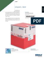 Piston Packing Seal Label