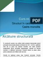 Structuri in cadre parter beton monolit