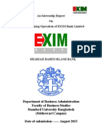 An Internship Report on risk management of exim bank bangladesh