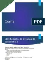 Fisiopatología del Coma
