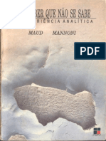 Maud Mannoni - Um Saber Que Não Se Sabe