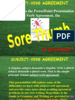 Sub Verb Agreement