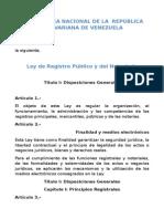 Ley de Registro Público y Del Notariado