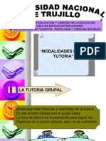 Modalidades d la TUTORIA - ponencia