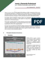 Boletín Economía y Demanda Profesional - Segundo Trimestre 2015
