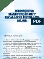 2 - Mapa Descritivo de Processo - Manutenção 1 Escalão PT 100