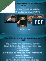 Ordem Unida - Curso de Nivelamento de Praças - Continência