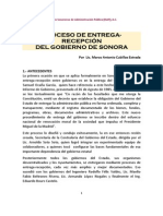 Proceso de Entrega Recepción en Sonora 20152015