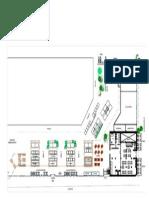 Floor plan/Plan de sol for the Marché Voyageur Market proposal