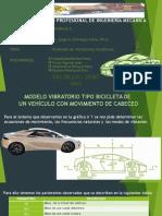 Analisis Vibracional de un vehículo modelado como bicicleta