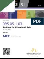 095 Backhaul Urban Small Cells