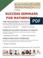 Math Success Seminars - Fall 2015 (1)