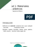 Unidad 1 Materiales plasticos