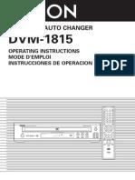 Denon Dvm 1815 Manual