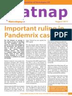 Catnap Newsletter - August 2015