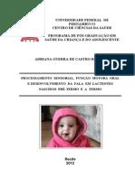 Recem Nascidos e Processamento Sensorial Escalas